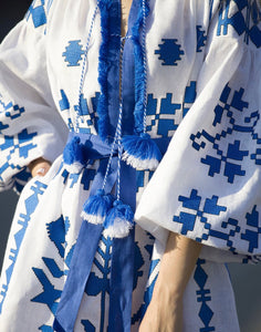 Embroidered Caftan Dress - Isla