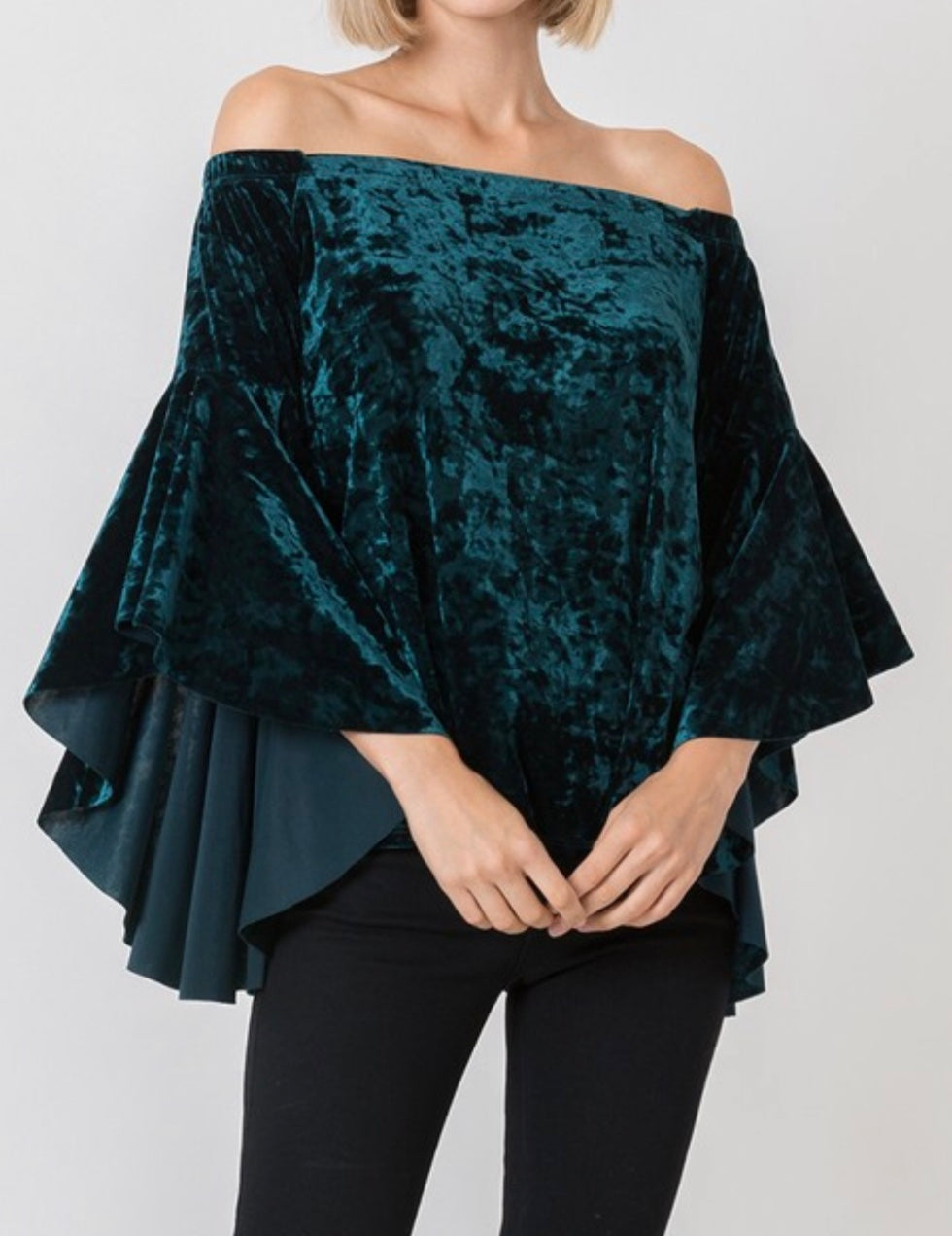 Velvet Flamenco Top