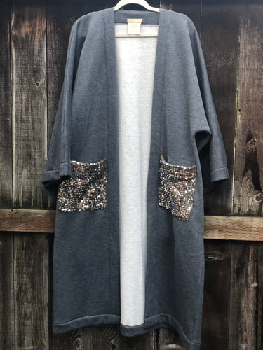 Private Collection Kimono - Sweatshirt Sequined Pockets