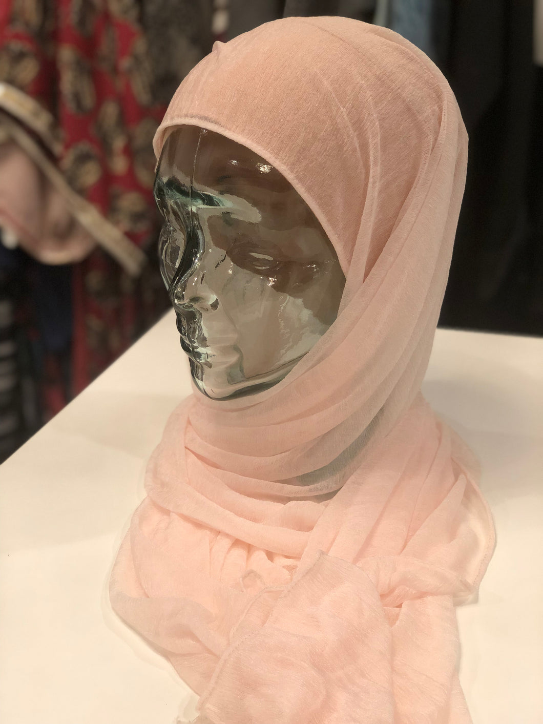 Hijab - Premium Jersey: Basic Sheer in Light Pink