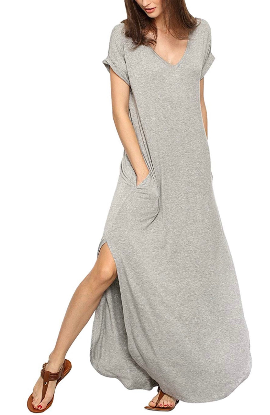 Summer Jersey Dress - Light Grey