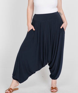 PLUS SIZE - Harem pant - Black