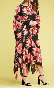 Floral Caftan Dress - One Size
