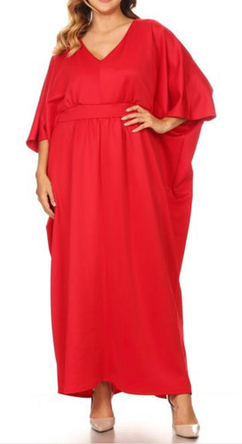PLUS SIZE - Celebration Caftan - Red