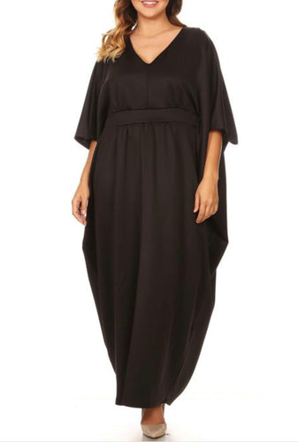 PLUS SIZE - Celebration Caftan - Black