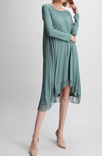 Lacy Mint Tunic Dress