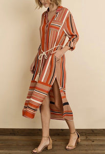 The Best Shirt Dress - Orange Tan