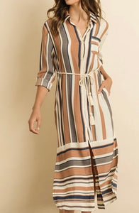 The Best Shirt Dress - Taupe Grey