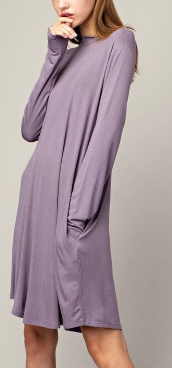 Bamboo Mock T Tunic Dress