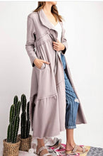 Maxi Athleisure Sweatshirt Cardi - Light Mauve