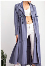 Maxi Athleisure Sweatshirt Cardi - Denim Blue
