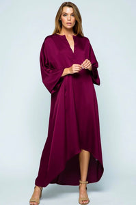 Holiday Caftan Dress - Berry