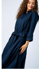 Cotton Poplin Extra Long Shirtdress - Midnight