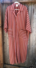 Striped Shirt Dress - Paprika