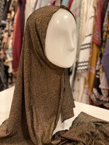 Jersey Hijab - Limited Edition: Slip On - Gold Black Metallic