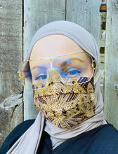 Hijabi Friendly Face Mask - African Metallic Gold