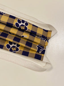 Hijabi Friendly Face Mask - School Pride - UW Plaid