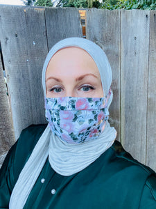 Hijabi Friendly Face Mask - Vintage Roses 2.0