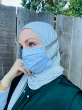 Hijabi Friendly Face Mask - Silver Victorian