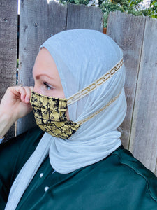 Hijabi Friendly Face Mask - Gold Royalty