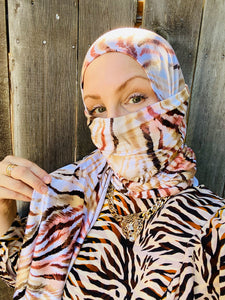 Limited Edition Printed Jersey Hijab: Tiger