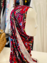 Limited Edition Printed Jersey Hijab: Red Floral