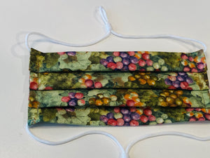 NEW! Adjustable Hijabi Friendly Face Mask - Grapes