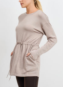 NEW! Soft Stretch Knit Tunic Top - Sand