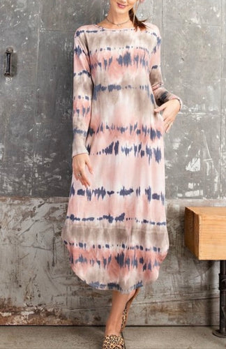 Tie Dye Tunic Dress