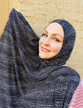 Limited Edition Printed Jersey Hijab: Moonscape