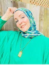 Limited Edition Printed Jersey Hijab: Emerald City Peacock