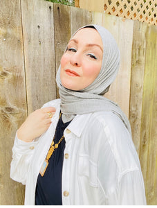Limited Edition Slip-on Jersey Hijab: Heather Grey