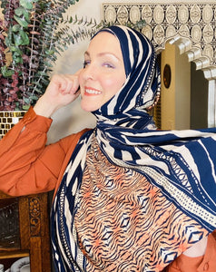 Active Lycra Jersey Hijab - Limited Edition: Slip On - It's A Jungle Out There!