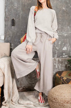 Wide Leg Mineral Washed Pants