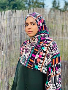 "Limited Edition Printed Jersey Hijab: ""So Rad"""