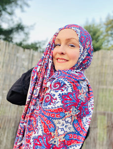 Limited Edition Printed Jersey Hijab: Turkish Dreams