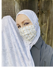 Hijabi Friendly Face Mask: Marble Effect