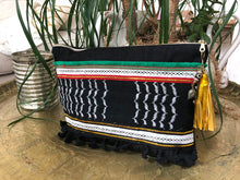 Palestinian Kuffiyah Pouch - Large Black, Green & Red