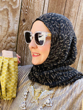 Jersey Hijab - Limited Edition: Slip On - Metallic Gold & Black Leopard
