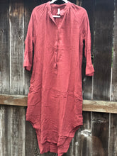Raglan Tunic Shirt Dress - Paprika