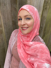 Limited Edition Cotton Jersey Hijab: Flamingo Tie Dye