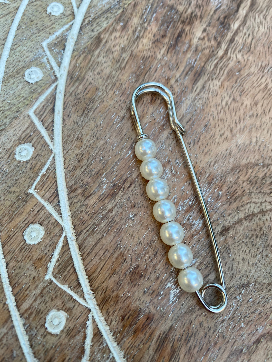 Glam Pearl Safety Pins: Gold or Silver