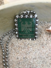 Vintage Stamp Pendant Necklace - Germany