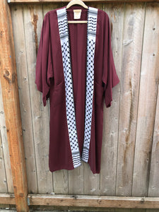 The Freedom Kimono Abaya - Black & White