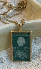 Vintage Stamp Pendant Necklace - Netherlands 1964