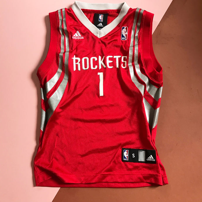 Vintage Kids Houston Rockets Basketball McGrady Jersey Top 6 Y