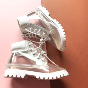 AKID Atticus White Clear Boots