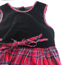 Vintage Kids 80s 90s Laura Ashley Velour Tartan Dress 5-6-7 Y