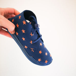 AKID Remington Blue + Orange Stars Shoes - Infant 11 - Designer
