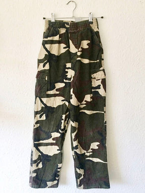 Vintage Kids Army Camo Trousers